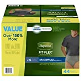 FIT-FLEX Incontinence Underwear for Men, Maximum Absorbency, L/XL, 44