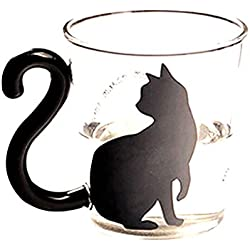 Generic Creative Cat Kitty Glass Cup Beer Mug Tea Cup Milk Coffee Cup with Handle