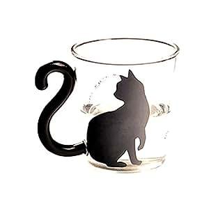 Palabras inglesas linda creativa de vidrio gatito gato for Tazas de te inglesas