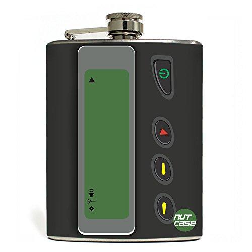 Designer Hip Flask 7 Oz Nutcase - Pager