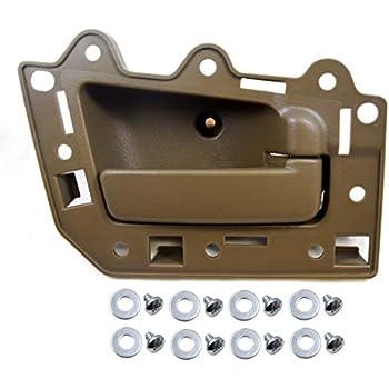 PT Auto Warehouse FO-2940B-FL Brown Driver Side Front Interior Inner Inside Door Handle