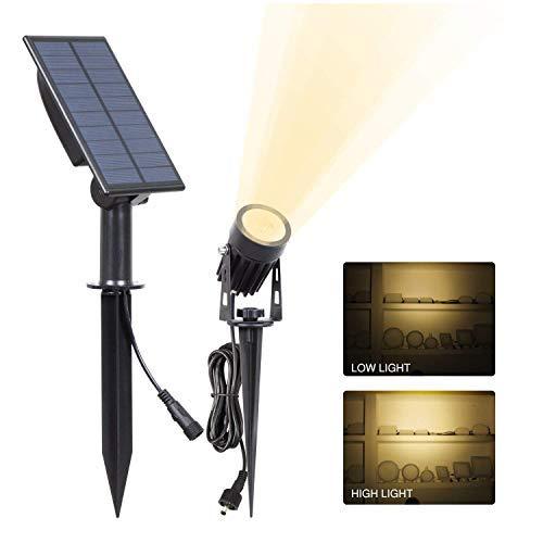 T-SUNRISE Solar Garden Spot Lights, LED Solar Light Outdoor Waterproof Auto ON/Off for Garden, Driveway, Pathway, Pool Area(Warm White - Gardens Sunrise