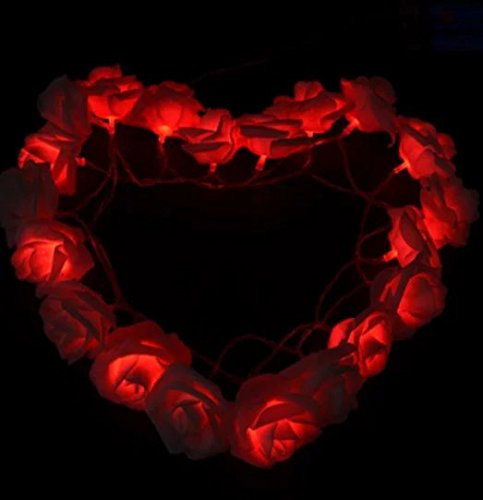 LED Night Light Rose Flower Fairy String Lights Children's Nightlight Garden Party Christmas Decoration Nightlight by ouledixun