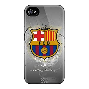ChrismaWhilten Cases Covers For Iphone 4/4s - Retailer Packaging Fc Barcelona Logo Sport Protective Cases