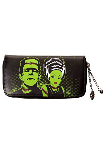 Banned Frankenstein And Bride Wallet - Black/One -