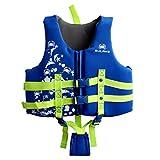 Niños Chaleco de Natación Chaqueta - Niños Niñas Traje Flotante Trajes de Baño Ajustable Flotante Buceo Playa Surf La Piscina Seguridad Aprender a Nadar Azul Rosado
