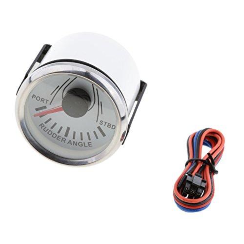 (Homyl Rudder Angle Indicator Gauge 0-190ohm With 52mm - White Chrome)