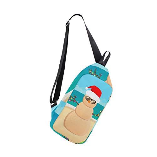 Chest Shoulder Men Bennigiry Tropical Santa Bags Christmas amp; Women Sling Crossbody For One Claus Bag Backpack fqRSwfY