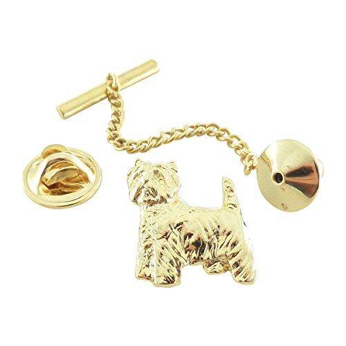 Gold ~ Westie ~ Tie Tack ~ DG478TT by Creative Pewter Designs (Image #1)
