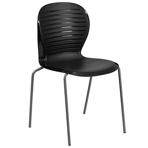Flash Furniture HERCULES Series 551 lb. Capacity Black Stack Chair by Flash Furniture
