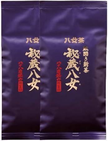 岩﨑園製茶 新茶 2020年産 福岡県産 八女茶 蔵開き新茶・秘蔵八女(袋) 100g × 2袋