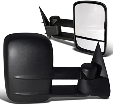 Spec-D Tuning RMX-SIV99-M-FS Chevy Chevrolet Silverado Tahoe Suburban Manual Towing Side Mirrors Black Pair