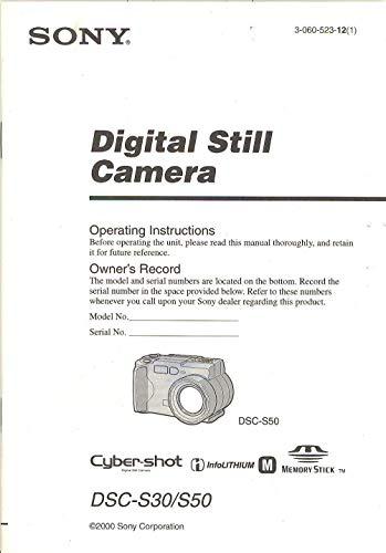 Sony Cyber-Shot DSC-S30 / S50 Digital Still Camera Original Operating Instructions