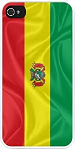 Rikki KnightTM Bolivia Flag Design iPhone 5 & 5s Case Cover (White Rubber with bumper protection) for Apple iPhone 5 & 5s