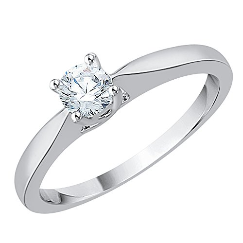 Diamond Promise Ring in Sterling Silver (1/3 cttw) (GH-Color, I2/I3-Clarity) (Size-8) by KATARINA