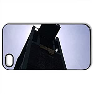 tower - Case Cover for iPhone 4 and 4s (Watercolor style, Black)