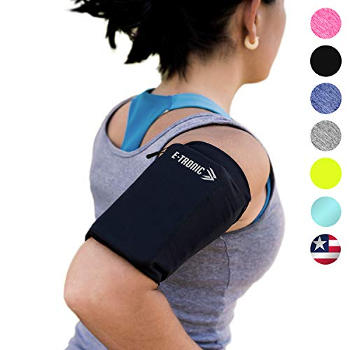 Phone Armband Sleeve Best Running Sports Arm Band Strap Holder Pouch Case (MED) Exercise Workout Top Gifts for Women Men Her Fits iPhone 6 7 8 X 11 Plus iPod Android Samsung Galaxy S8 S9 S10 Note 9 10 from E Tronic Edge