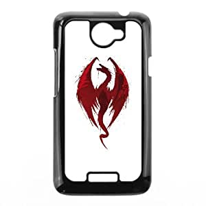 HTC One X Cell Phone Case Black Dragon's bane GFR Unique Plastic Phone Case