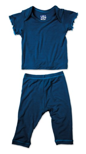 KicKee Pants Short Sleeved Pajama Set, Twilight, 12 18 Months