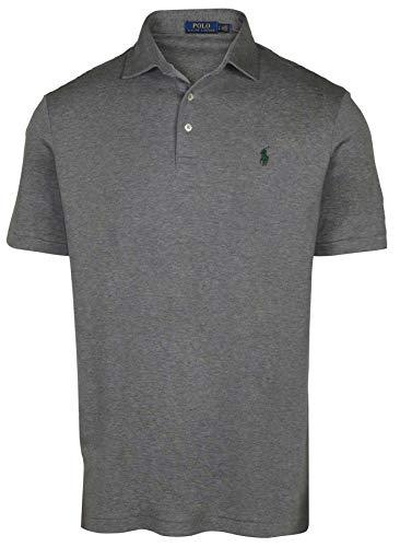 Polo Ralph Lauren Men's Interlock Polo Shirt-Grey Heather-Medium