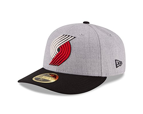 - NBA Portland Trail Blazers Men's Low Profile 59FIFTY Fitted Cap, 7.375, Heather Gray
