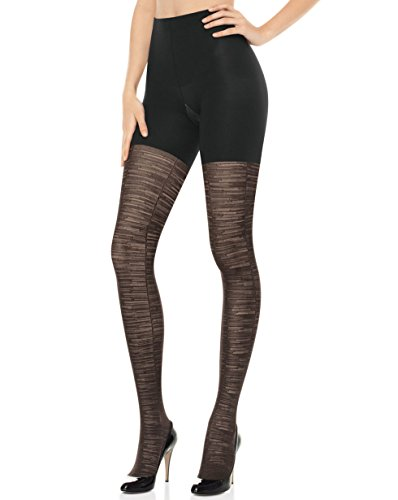 - SPANX Patterned Tight End Tights Sweater Stripe (B, Black 1802)