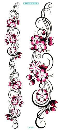 HXMAN 3 Unids Negro Mariposa Flor Tatuaje Diseño Temporal Tribal ...