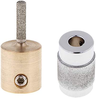 sharprepublic ガラス研削盤のための2xダイヤモンドの粉砕の車輪のステンドグラスの研削盤のヘッドビット