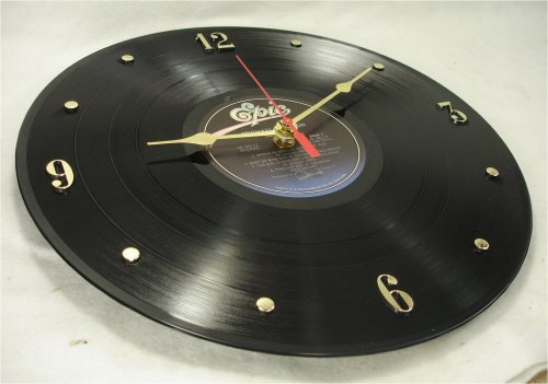 "MICHAEL JACKSON Recycled Vinyl Record Clock – ""Thriller"" (1982) (Recycled Clock)"