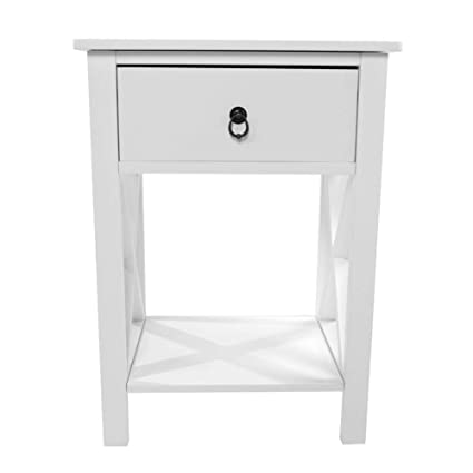 Samber White Bedside Cabinets Coffee Tables