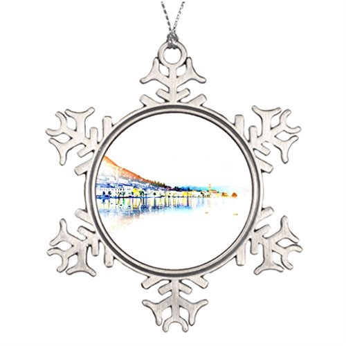 (Metal Ornaments Best Friend Snowflake Ornaments Lake Christmas Home Decor)
