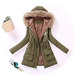 The Small Cat New Winter Military Coats Women Cotton Wadded Hooded Jacket Medium Long Casual Parka Snow Outwear Large Green