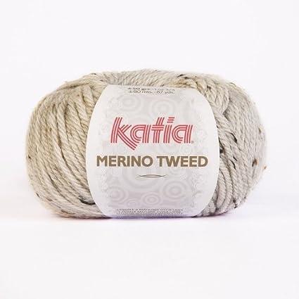 80 m Wolle - 50 g // ca NATURAL MERINO TWEED von Katia 300