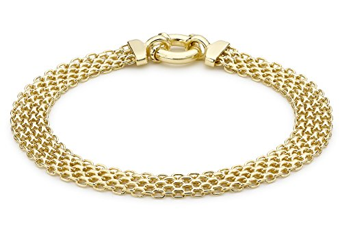 Carissima 9ct Yellow Gold Bismark Bracelet 7.13cm ()