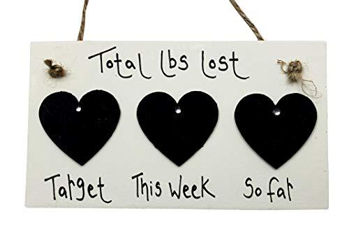MadeAt94 Wedding Countdown Engagement Gift Plaque Sign Chalkboard Golden Heart