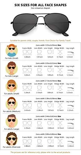 livho Classic Polarized Aviator Sunglasses UV Mirrored Lens Metal Retro Shades 4
