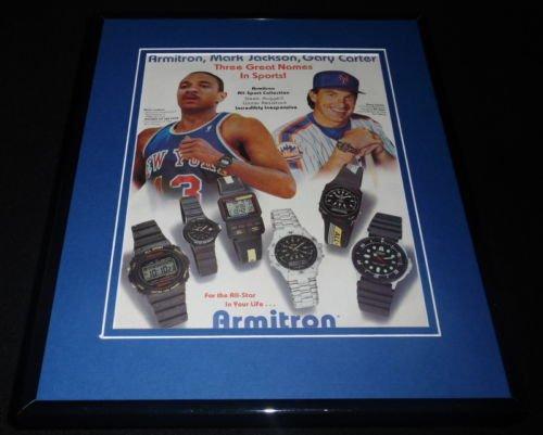 mark-jackson-gary-carter-1988-armitron-11x14-framed-original-advertisement