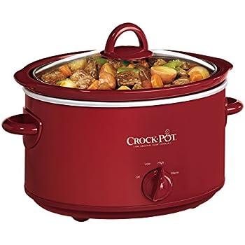 Crock-Pot 4-Quart Oval Manual Slow Cooker, Red (SCV401TR)