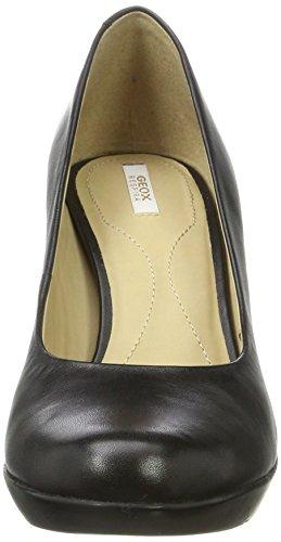 Geox D Inspiration C, Zapatos de Tacón para Mujer Negro (Black)