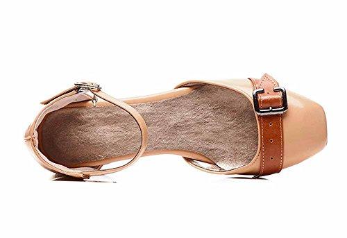 Beige Caviglia Donne Chiusa Sandali Con Alla Con Alla Punta Con Caviglia Cinturino 40 Dimensioni 43 Sandali Grandi Cinturino Rq8TgtRwn