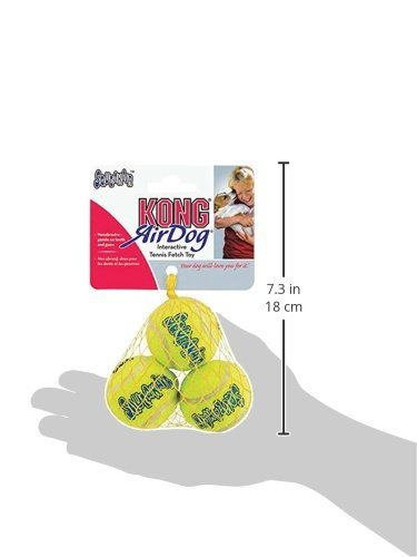 KONG Air Dog Squeakair Dog Toy Tennis Balls, X-Small (6 Pack)