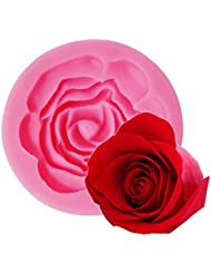 MonkeyJack 3D Flower Silicone Cake Mold Fondant Mould Decorating Pudding Pizza DIY Baking Tool - Rose