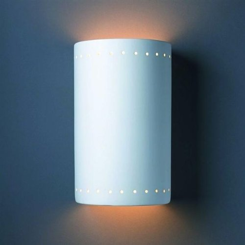 Justice Design Group Glass Sconce - Justice Design Group Lighting CER-1295-BIS Wall Sconce with Ceramic Bisque Shades, White