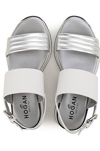 Sandalo H257 Hogan donna tomaia in pelle cinturino alla caviglia Mod HXW2570X750EZ50906 Fibbietta in metallo ZaMibkVA