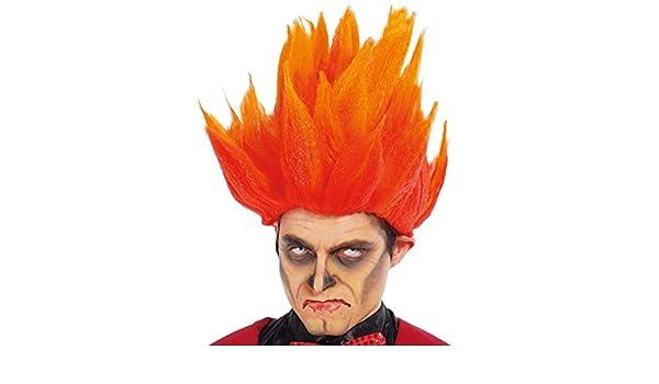Peluca de Fuego para Halloween o para Carnaval: Amazon.es: Productos para mascotas