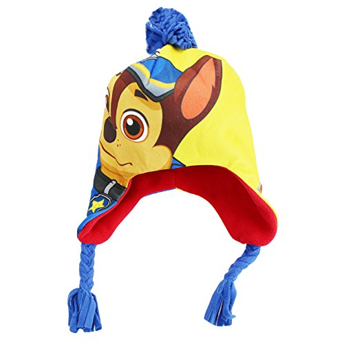 PAW Patrol Chase Nickelodeon Winter Hat With Ear Flaps Blue Toddler 2T-4T