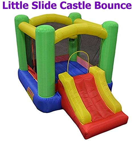 Little Slide Castle Bounce House w/ Attached Slide ( Balls Sold Separately ) - Best for Kids Age 1~6, Perfectly Sized for Indoor or Outdoor Use (AZ-500 w/ Slide, Without Balls)