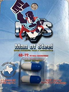 Man of Steels Don Juan ME-72 HR Extreme - 2 Male Enhancement Pills - Texas Made (The Best Ed Pill)