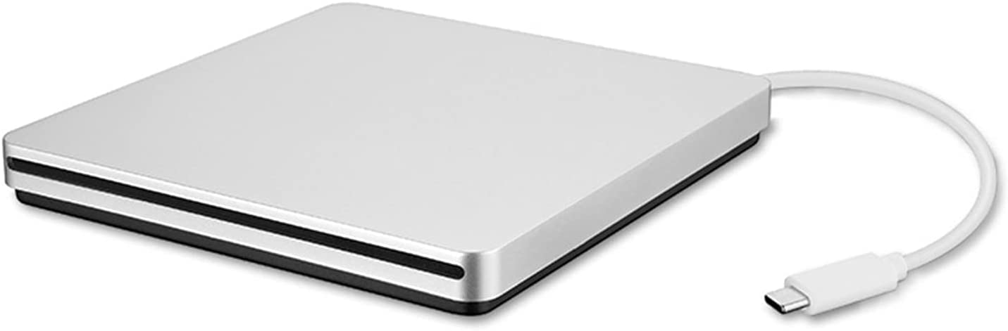 Ultra-Thin Classic Slot in Design Type-C External CD DVD Drives, Plug and Play USB C CD Drives DVD-RW Burner for MacBook iMac Dell XPS