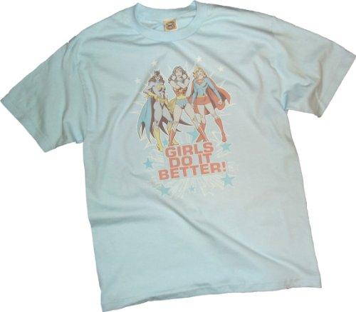 "Ptshirt.com-19351-""Girls Do It Better!"" -- Batgirl - Wonder Woman - Supergirl Youth T-Shirt-B004OOQO8K-T Shirt Design"